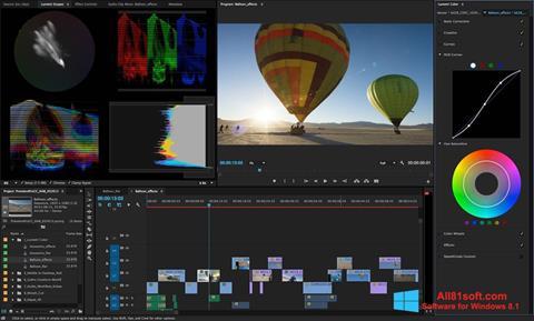 Ekrano kopija Adobe Premiere Pro Windows 8.1