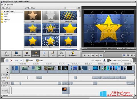 Ekrano kopija AVS Video Editor Windows 8.1