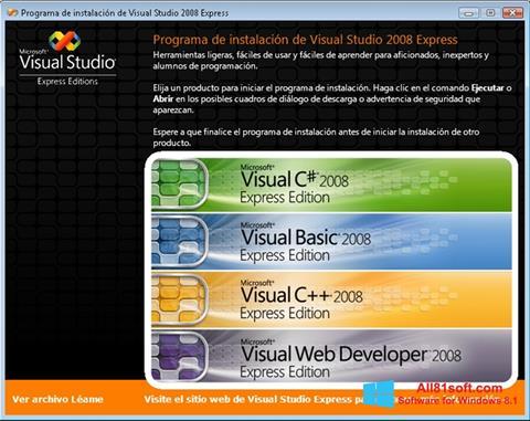 Ekrano kopija Microsoft Visual Studio Windows 8.1