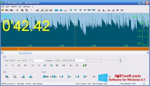 Ekrano kopija mp3DirectCut Windows 8.1