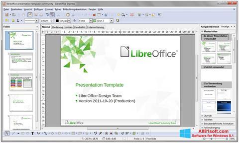 Ekrano kopija LibreOffice Windows 8.1