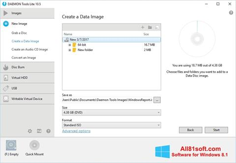 Ekrano kopija DAEMON Tools Lite Windows 8.1
