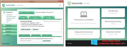 Ekrano kopija Adguard Windows 8.1