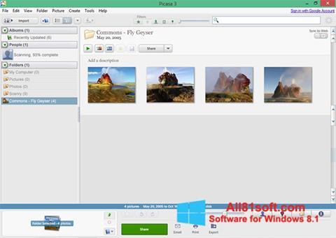Ekrano kopija Picasa Windows 8.1