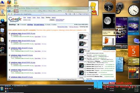 Ekrano kopija Google Desktop Windows 8.1