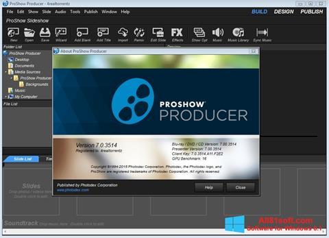 Ekrano kopija ProShow Producer Windows 8.1