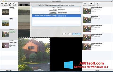 Ekrano kopija IP Camera Viewer Windows 8.1