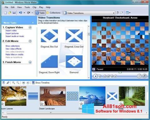 Ekrano kopija Windows Movie Maker Windows 8.1