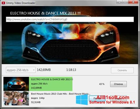 Ekrano kopija Ummy Video Downloader Windows 8.1