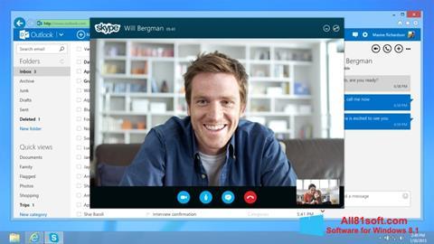 Ekrano kopija Skype Windows 8.1